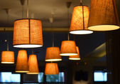 Lamps on a coffee shop — ストック写真