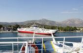 Ferryboat entering — Stock Photo