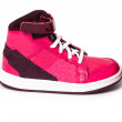 Pink ladies women's sport fashion sneaker trainer shoe — Stock Photo