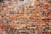 古い赤れんが造りの壁テクスチャ背景 — ストック写真