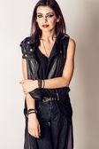 Rock style beautiful young woman. model. portrait — Stockfoto