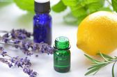Essential oils for aromatherapy — Stock Photo