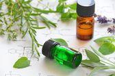Aceites esenciales y la ciencia — Foto de Stock