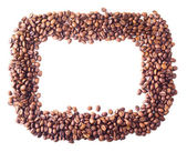 Square frame from coffee beans — Stock Photo