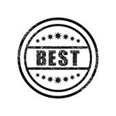 Best damaged stamp — Stock Vector