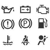 Car interface symbols — Stock Vector