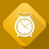 Vector icon of Alarm Clock with a long shadow — Stock Vector