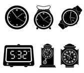 Conjunto de iconos de reloj — Vector de stock