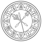 Vieille horloge — Vecteur