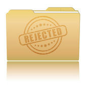 """Folder with """"Rejected"""" damaged stamp — Stock Vector"""