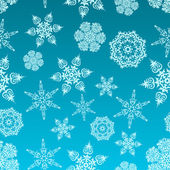 Snowflakes desen — Stok Vektör
