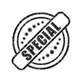 Special damaged stamp — Stock Vector