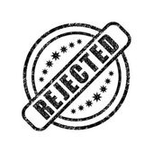 Rejected damaged stamp — Stock Vector