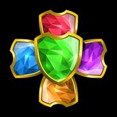 Crystal shields — Stock Vector