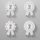 Set of badges with ribbons. Set of awards with ribbons — Stock Vector