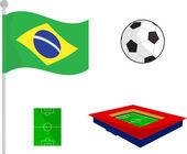 Vector symbol icon Soccer set — Stock Vector