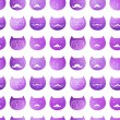 Cats seamless pattern. Vector. Vector triangle cats. Abstract ca — Stock Vector
