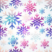 Vector snowflakes pattern. Abstract snowflake of geometric shape — Stock Vector