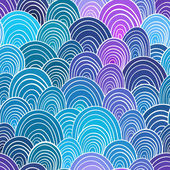 Seamless pattern. Colorful mosaic backdrop. seamless wave hand-d — 图库矢量图片