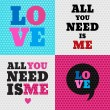 Set of 4 valentines day illustrations — Stock Vector #44933213