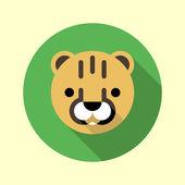 Cute little cheetah icon. — Stock Vector