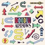Doodle colorful arrows design set. — Stock Vector #51060119