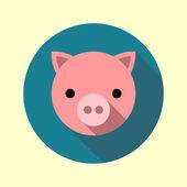Cute piglet icon — Stock Vector