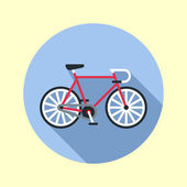 Fixed hipster bike. — Stock Vector