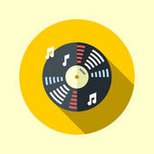 Vinyl music record — Stock Vector