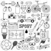 Sport doodle set — Stock Vector