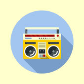 Vintage ghetto blaster boombox. — Stock Vector