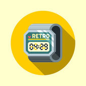 Vintage digital watch — Stock Vector