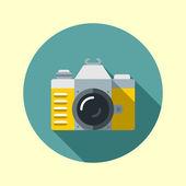 Vintage hipster slr camera. — Stock Vector