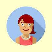 Cute young hipster girl with red hair — Stock Vector