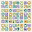 Cute internet hipster icons set — Stock Vector #51488067
