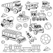 Hand drawn cute doodle toys set — Stock Vector #51488089