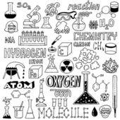 Chemistry. Hand drawn — Stock Vector
