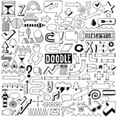 Elementos de diseño colorido doodle — Vector de stock
