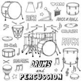 Drums and Percussion illustration. — Stock Vector