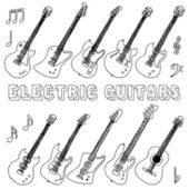 Electric guitars illustration. — Stock Vector