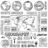 Geography doodles. — Stock Vector