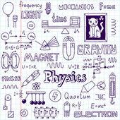Physics. Hand drawn. — Stock Vector