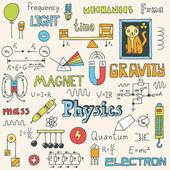 Physics. Hand drawn — Stock Vector