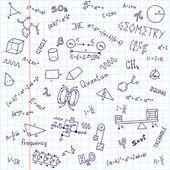 Back to school formulas notebook — Stock Vector