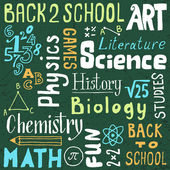 Back to school lettering. — Stock Vector