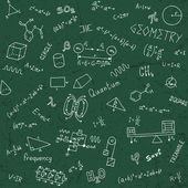 Back to school formulas. — Stock Vector