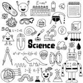 School science doodles — Stock Vector
