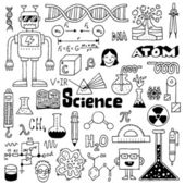 School science doodles — Stock Vector