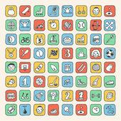 Doodle sport icons set — ストックベクタ