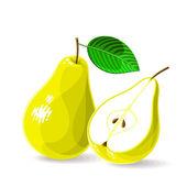 Fresh pears — Stock Vector